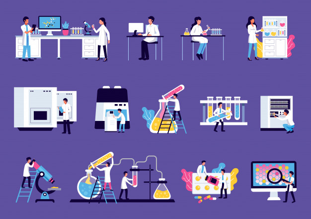 laboratory-set-with-isolated-images-lab-equipment-furniture-with-colourful-liquids-scientists-human-characters_1284-31952