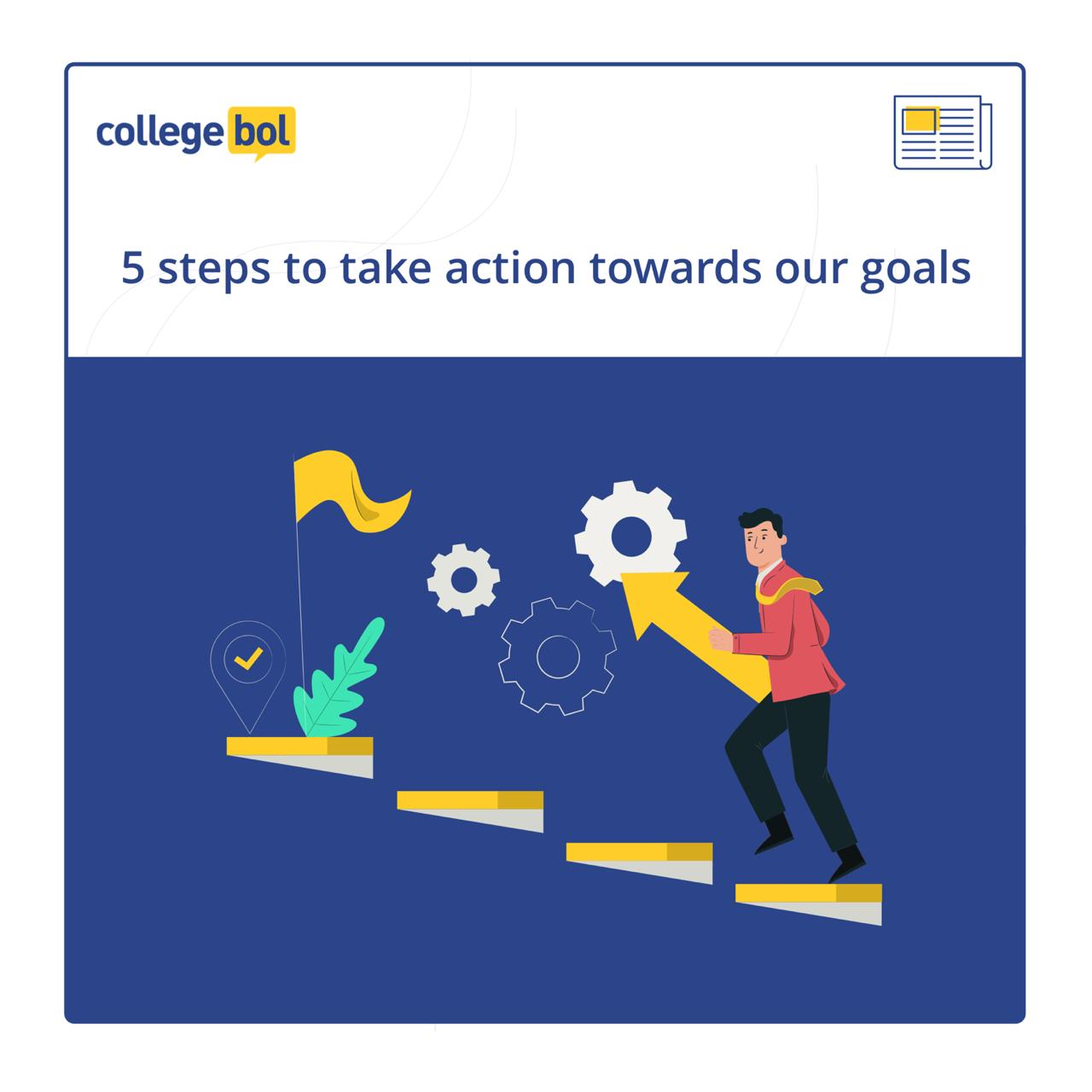 5 steps to take action towards our goals